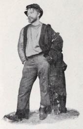 Skådespelare Samin i vagabondroll.