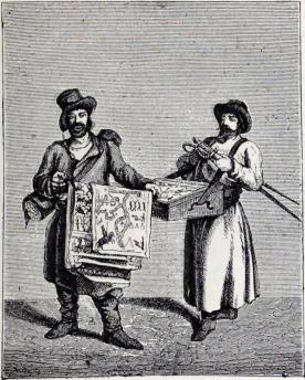 Sådana som utbjuda sina varor. (Från 1730-talet.)