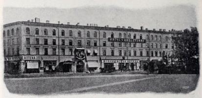 Hôtel d'Angleterre och Isaksplatsen.