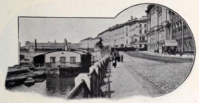 Fontanka i närheten af Anitschkowbron.