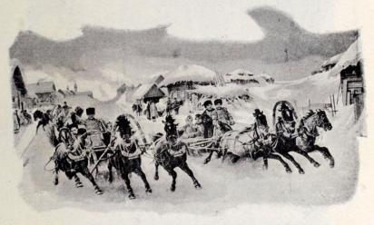 Troika. (Efter Grusinskys berömda tafla »Carneval» i Alexander III:s museum.)
