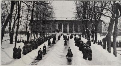 Vinterbild från Ssmolnaparken.