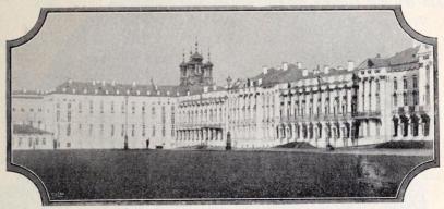 Det käjserliga palatset i Peterhof.