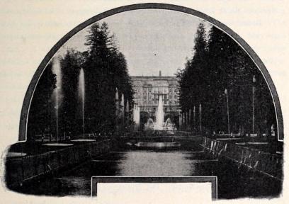 Peterhof. Fontänen.