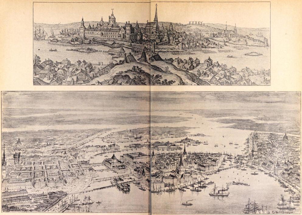 Gamla och nya Stockholm: I. Stockholm vid slutet af 1500-talet. II. Det nuvarande Stockholm med riksbyggnaderna m. m.