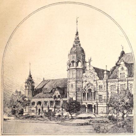 Nordiska museets tillbyggnad.