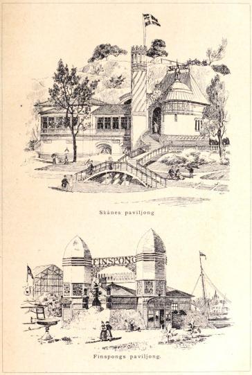 Skånes paviljong<bFinspongs paviljong.<b