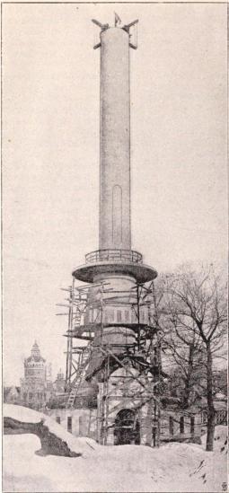 Liljeholmens stearinljusfabriks montre.<bEfter fotografi för »För Svenska Hem» af B. Orling. (Febr. 1897.)