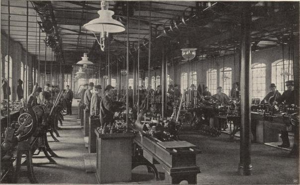 Arbetssal vid Armaturfabriken i Lund.<b<smalFoto Jonn, Lund.</smal