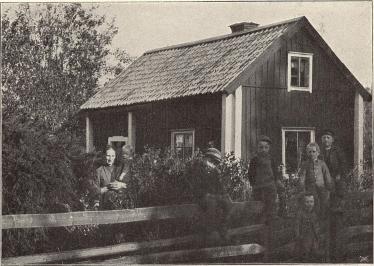 Arbetarebostad vid Vigelsbo grufvor.<b<smalFoto Bohman, Falun.</smal