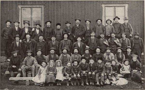 Grufarbetare vid Getön, Persberg.<b<smalFoto Ölander, Filipstad.</smal