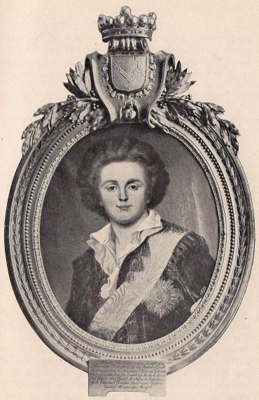 <bGUSTAF MAURITZ ARMFELT (1757–1814).<b<smalOljemålning af Wertmüller.  Tillhör friherrinnan A. Schröderheim, född Armfelt.</smal