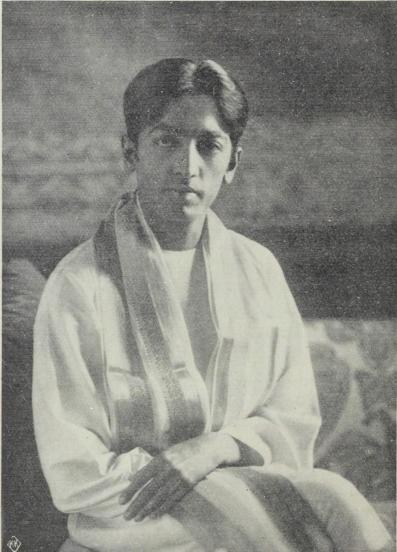 J. Krishnamurti, 1926.