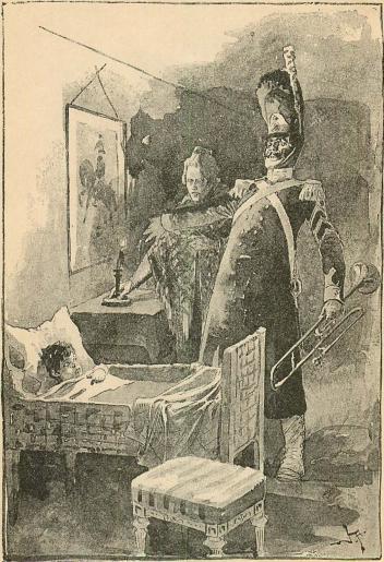 <smalIll. V. A.[=Viktor Andrén]</smal<b»Opp med prinsen, han skall göra ställningssteg för hans majestät!»