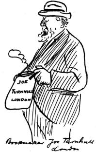 Bookmaker Joe Turnhull, London.