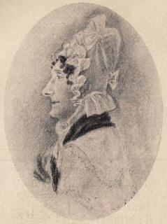 Louise Key-Fleetwood.<bEfter en blyertsteckning.