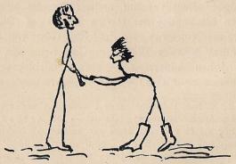 Elof Quiding och Gösta von Düben.