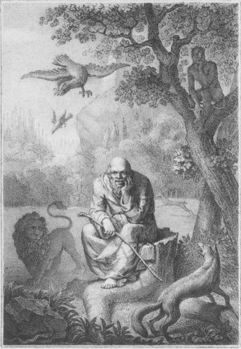 Lundqvist Lith.Tr. af Gjöthström.<b<biÆsopus och Djuren.</bi