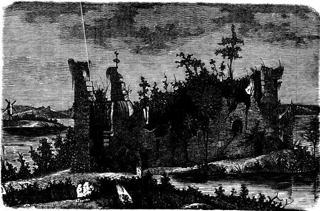 Axevalla slottsruiner.  (Se sid. 257.)