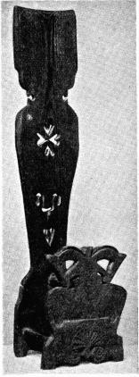 Fig. 1. Skäktstol<bfrån Möckelby sn, Öland.<bH. 0,835 m. N. M. 113,997.