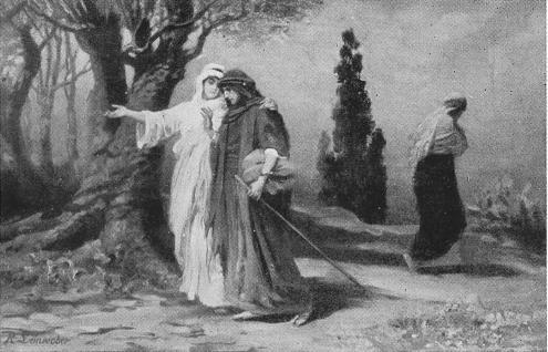 Rut och Noomi skiljas från Orpa. (Rut 1:16,17).