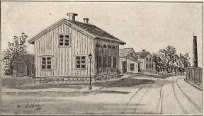 Värdshus från 1800-talets mitt<b<smal(nära Röda sten)</smal