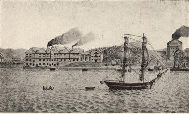 Lorentska bruken på 1820-talet<b<smal(efter en gammal målning)</smal