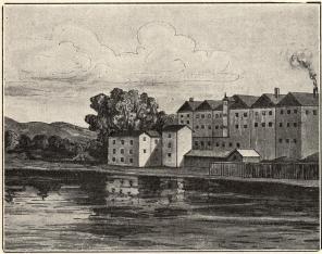 De äldsta Carnegieska bruksbyggnaderna<b<smal(i 1800-talets förra hälft)</smal