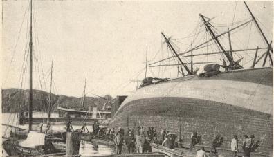 Kustens-varvs-bild<b(från segelflottans dagar på 1870-talet)