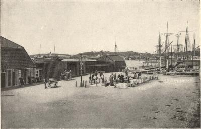 Hamnen från Kustbryggan