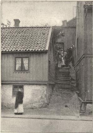Stolfersstigen<b(till höger värdshuset Elva Trappor)
