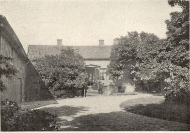 Det forna prostbostället vid Djurgårdsgatan<b(i hörnet av Allmänna vägen)