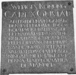 Memorial tablet on the above building