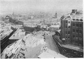 School of Navigation and German Church<bPhoto taken on 6th Feb. 1930