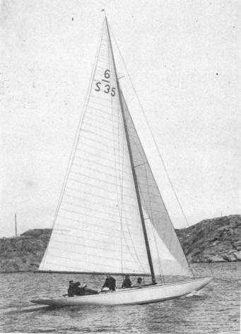 Ingegerd, 6-metre H, of the Aiolus Yacht Club,<bwinner of the Gold Cup 1929