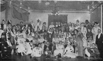 St. Andrew's English Society's Masked-Ball on March 19th<b1914 held at Gothenburg. W. J. Dawson acted as M. C. (in the<buniform of a Hull Police Officer).