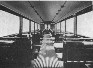 The inside of one of Långedrag trams