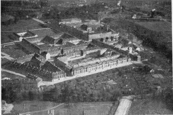 An aerial view of S. K. F. factory and dwellings of<btheir workmen by Aero Materiel A/B. No. D. 1990