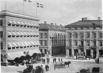 (Hansom Cab Stand)<bGothenburg in the year 1878. It was a<b»Hansom» City in these olden days