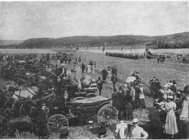 Horse racing at Gothenburg 1895
