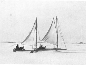 Ice Yachting at Långedrag in Feb. 1930