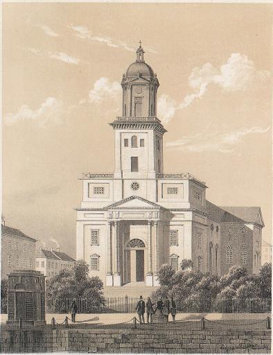 <smalIll. Ludvig Messmann. 1861.</smal<bTryckt och förlagt af Meyer & Köster. Lithogr. Atel. i Götebg.<b<biDOMKYRKAN.</bi