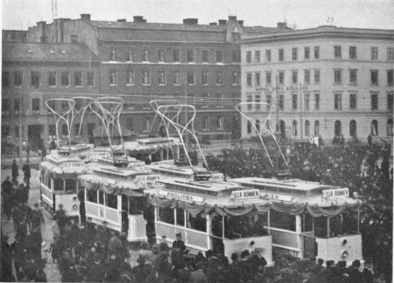 Bild från Drottningtorget den 27 okt. 1902