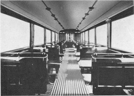 Boggievagn, interiör