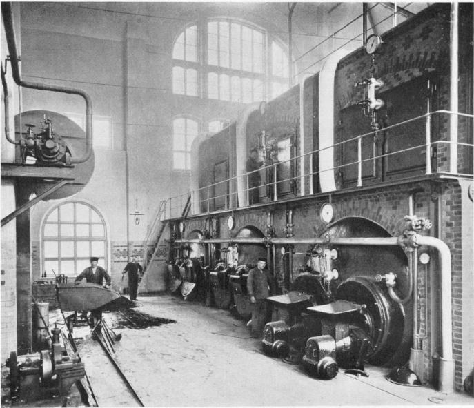 Interiör av ångpannerummet 1902