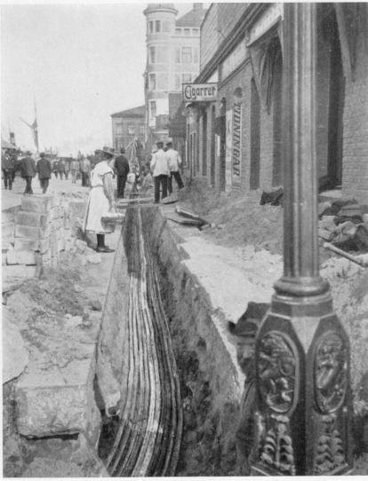 Kabelläggning 1902