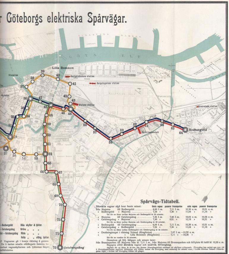 Bilaga 2. Karta över spårvägsnätet År 1902