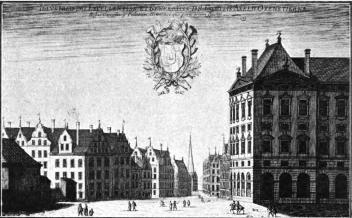 Axel Oxenstiernas hus. (Ur Suecia antiqua.)
