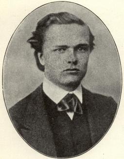 Strindberg som student 1870.