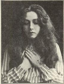 Harriet Bosse som Eleonora i »Påsk».